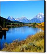 Grand Tetons 1 Canvas Print by Carrie Putz