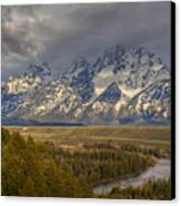 Grand Tetons Snake River Canvas Print by Charles Warren