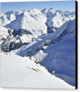 Grande Sassiere And Petite Sassiere Canvas Print by Andy Smy