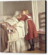 Grandfathers Little Nurse Canvas Print