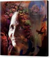 Grandmother Crow Canvas Print
