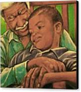 Grandpa And Me Canvas Print by Curtis James