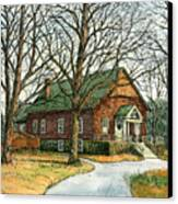 Grange Hall No.44 Canvas Print by Elaine Farmer