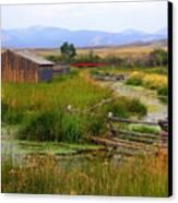 Grant Khors Ranch Deer Lodge  Mt Canvas Print