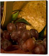 Grapes  And Bread Canvas Print