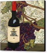 Grapes And Wine Canvas Print