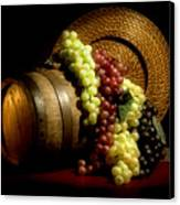 Grapes Of Wine Canvas Print by Tom Mc Nemar