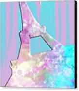 Graphic Style Paris Eiffel Tower Pink Canvas Print by Melanie Viola
