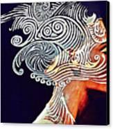 Graphism For Nefertiti Canvas Print by Paulo Zerbato
