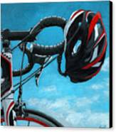 Great Day - Bicycle Oil Painting Canvas Print by Linda Apple
