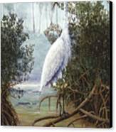 Great White Heron Canvas Print by Kevin Brant
