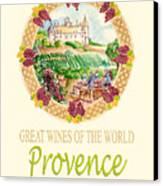 Great Wines Of The World - Provence Canvas Print by John Keaton