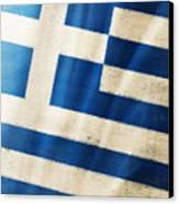 Greece Flag Canvas Print by Setsiri Silapasuwanchai