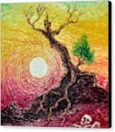 Greed- Homage To Van Gogh Canvas Print