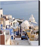 Greek Island Volcanic Town Canvas Print