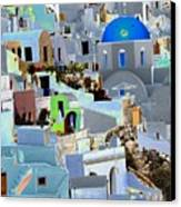 Greek Isle Of Santorini Canvas Print