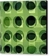 Green Astigmatism Canvas Print by Teodoro De La Santa