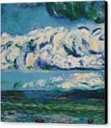 Green Beach Canvas Print