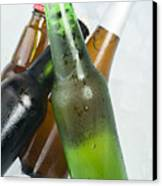 Green Bottle Of Beer Canvas Print by Deyan Georgiev