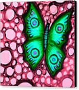 Green Butterfly Canvas Print by Brenda Higginson