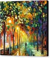Green Dreams Canvas Print by Leonid Afremov