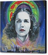 Green Madonna Canvas Print