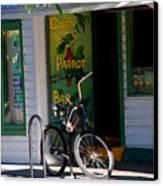 Green Parrot Bar Key West Canvas Print by Susanne Van Hulst