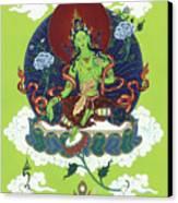 Green Tara Canvas Print by Carmen Mensink