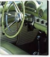 Green Thunderbird Wheel And Front Seat Canvas Print