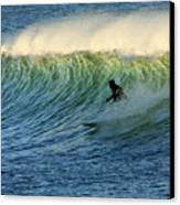 Green Wall Surfer Canvas Print by Mike Coverdale