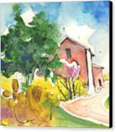 Greve In Chianti In Italy 01 Canvas Print by Miki De Goodaboom