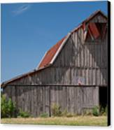 Grey Barn Canvas Print by Douglas Barnett
