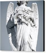 Grieving Angel On The Old Graveyard Canvas Print