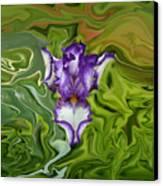 Groovy Purple Iris Canvas Print by Rebecca Margraf