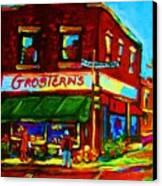 Grosterns Market Canvas Print