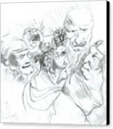 Grotesque Heads Canvas Print