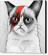 Grumpy Cat As David Bowie Canvas Print