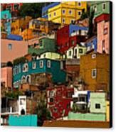 Guanajuato Hillside 4 Canvas Print by Mexicolors Art Photography