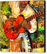 Guitar And Keys Canvas Print