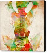 Guitar Siren Canvas Print by Nikki Smith