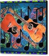 Guitars - Bordered Canvas Print