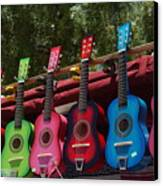 Guitars In Old Town San Diego Canvas Print by Anna Lisa Yoder