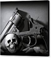 Gun And Skull Canvas Print