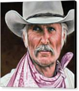 Gus Mccrae Texas Ranger Canvas Print by Rick McKinney