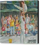 Gymnast Canvas Print by Charles Hetenyi