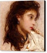 Gypsy Girl Canvas Print by George Elgar Hicks