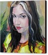 Gypsy Girl Canvas Print