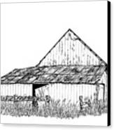 Haines Barn Canvas Print by Virginia McLaren