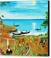 Haiti 1492 Before Christopher Columbus Canvas Print by Nicole Jean-Louis
