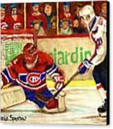 Halak Makes Another Save Canvas Print by Carole Spandau